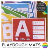 Alphabet Playdough Mats - Upper Case Letters
