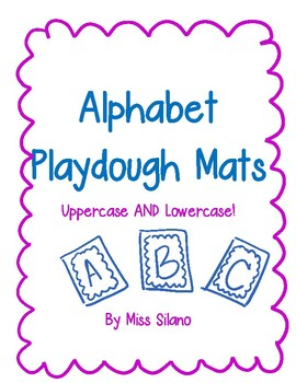 Alphabet Playdough Mats- Uppercase AND Lowercase Letters