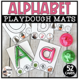 Alphabet Playdough Mats Uppercase and Lowercase Letters