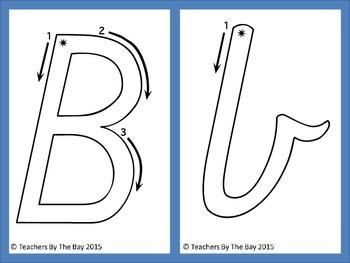Alphabet Playdough Mats Vic Pre Cursive