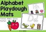 Alphabet Playdough Mats Victorian Modern Cursive