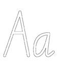 Alphabet Playdough Mats - Victorian Modern Cursive