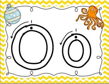 Alphabet Playdough Mats with Stroke Order