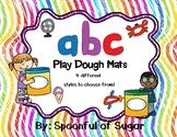 Alphabet Playdough Mats with visual directions (4 Differen