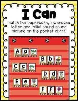 Alphabet Pocket Chart Literacy Center