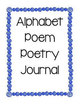 Alphabet Poem Journal