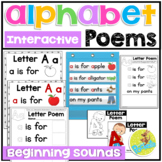 Alphabet Poems Beginning Sounds and Reader Books - ABC Poe