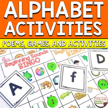 Alphabet Poems and Alphabet Mini Book BUNDLE