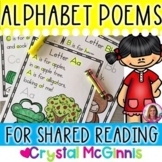 Alphabet Poems for Shared Reading (26 Poems) & Additional Poetry Activities