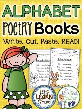 Alphabet Poetry Book (Color & BW) - Includes 52 printables