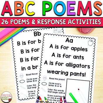Alphabet Poems Poetry Journal - ABC Poems