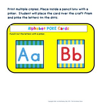 Alphabet Poke Cards