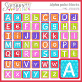 Alphabet Polka Blocks