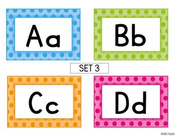 Alphabet Polka Dot Cards