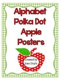 Alphabet Polka Dot Apple Posters
