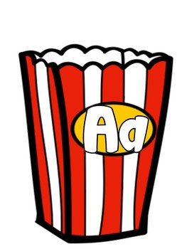 Alphabet Popcorn Beginning Initial Sound Search and Find Matching Game