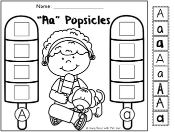 Alphabet Popsicles - Sorting Lowercase and Uppercase Letters