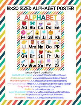 Alphabet Poster-16x20 Printable File