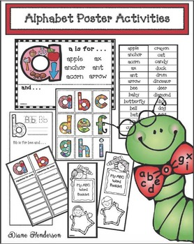 Alphabet Posters With Word Work Activities