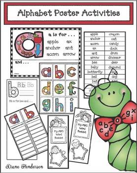 Alphabet Posters With Word Work Activities