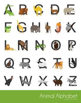 Alphabet Poster - Animal