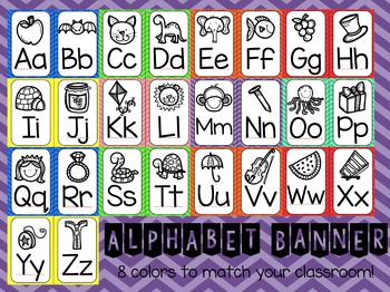 Alphabet Poster Banners - Chevron