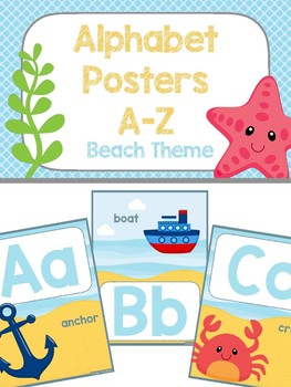 Alphabet Poster - Beach Theme
