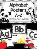 Alphabet Poster - Black and White