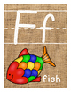 Alphabet Poster: Burlap Theme