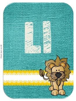 Alphabet Poster Cards {Sunshine, Lace, & Burlap Decor.}