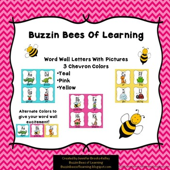 Alphabet Poster Cards for Word Wall