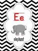 Alphabet Poster ~ Chevron Black Theme