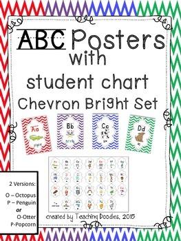 Alphabet Poster ~ Chevron Bright Theme