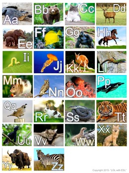Alphabet Poster Letters in the Zoo Medium