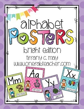 Alphabet Posters Melonheadz Style (brights)