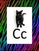 Alphabet Poster - Rainbow Zebra