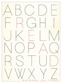 Alphabet Poster Read Between the Lines