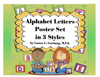 Alphabet Poster Set 3 Ways Sampler