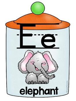 Alphabet Poster Set: A-Z (Full & Half Size Posters) {Candy Jar Theme}