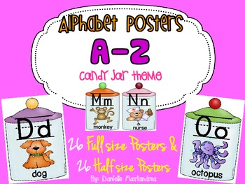 Alphabet Poster Set: A-Z (Full & Half Size Posters) {Candy