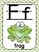 Alphabet Poster Set: A-Z (Full & Half Size Posters) {Frog Theme}