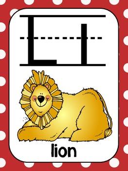 Alphabet Poster Set: A-Z (Full & Half Size Posters) {Sock Monkey Colors}