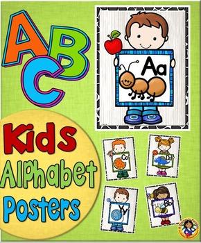 Alphabet Poster Set ~ Kids