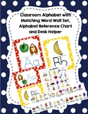 Alphabet Poster Set, Matching Word Wall and Personal Alpha