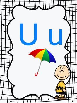 Alphabet Poster Set Peanuts Themed