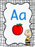 Alphabet Poster Set Peanuts Themed
