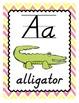Alphabet Poster Set - Sherbert Chevron