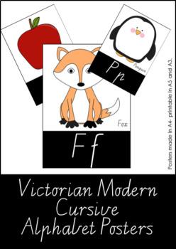 Alphabet Poster - Victorian Modern Cursive