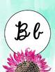 Alphabet Poster- Watercolor Sunflower- Cursive