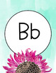 Alphabet Poster- Watercolor Sunflower- Print